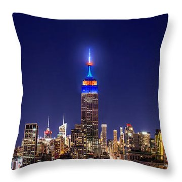 Mets Dominance Throw Pillow by Az Jackson