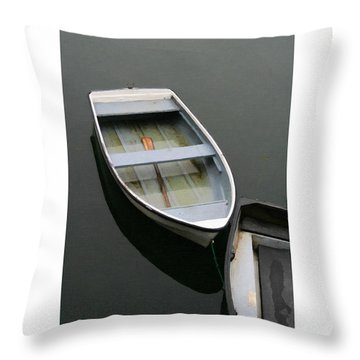 Throw Pillow featuring the digital art Mevagissy Boat by Julian Perry