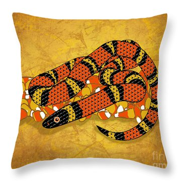 Mexican Candy Corn Snake Throw Pillow