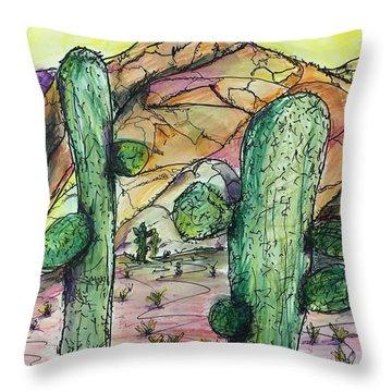 Mexican Desert Throw Pillow
