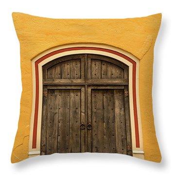 Mexican Door Throw Pillow