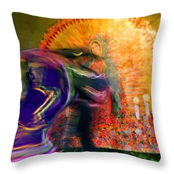 Mexican Folk Dancers Throw Pillow