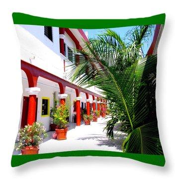 Mexican Hacienda Throw Pillow