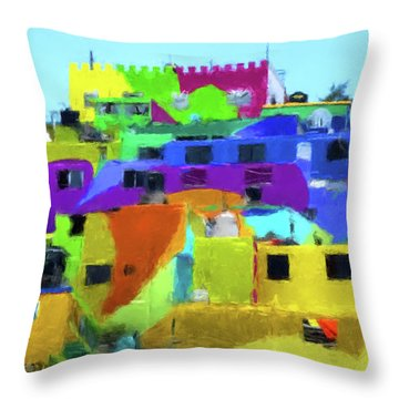 Mexican Homes Throw Pillow