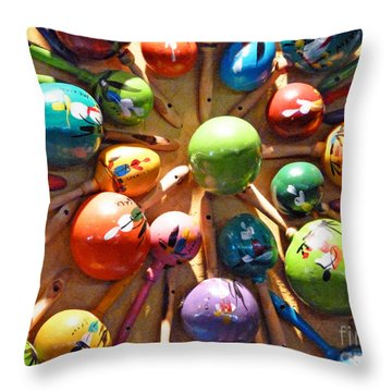 Mexican Maracas Throw Pillow by Methune Hively