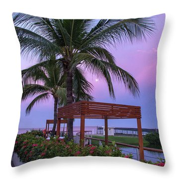Mexican Moonrise Mexican Art By Kaylyn Franks Throw Pillow