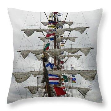 Mexican Navy Ship Throw Pillow