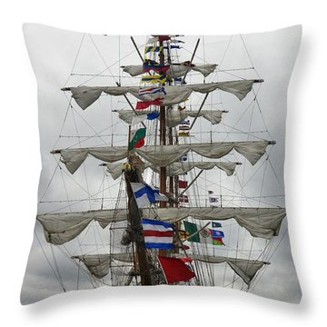 Mexican Navy Ship Throw Pillow