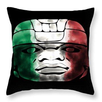 Mexican Olmec Throw Pillow