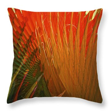 Mexican Palm Throw Pillow by Gwyn Newcombe
