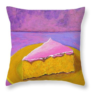 Mexican Pink Cake IIi Throw Pillow by Manny Chapa
