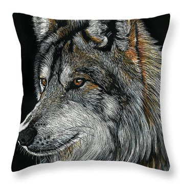 Mexican Wolf Throw Pillow