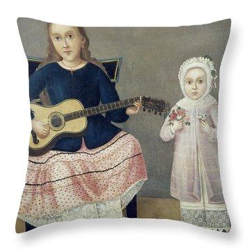 Mexico: Children, C1850 Throw Pillow by Granger