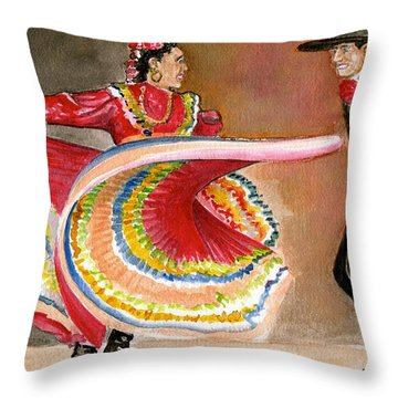 Mexico City Ballet Folklorico Throw Pillow