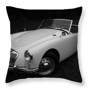 Mg - Morris Garages Throw Pillow by Juergen Weiss