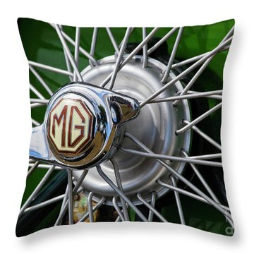 Mg Hub Throw Pillow