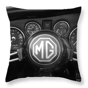 Mg Midget Dashboard Throw Pillow