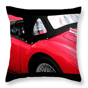 M G  Red Throw Pillow by Angela Davies