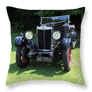 Mg Ta Throw Pillow