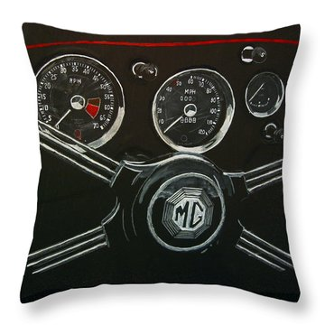 Throw Pillow featuring the painting Mga Dash by Richard Le Page