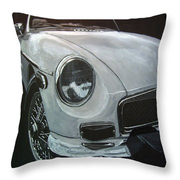 Throw Pillow featuring the painting MGB by Richard Le Page