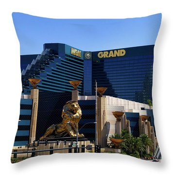 Mgm Grand Hotel Casino Throw Pillow