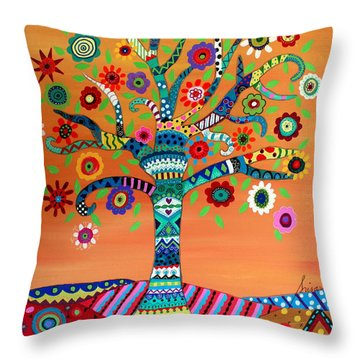 Throw Pillow featuring the painting Mhuri by Pristine Cartera Turkus