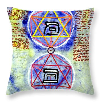 Mi And Ma Throw Pillow