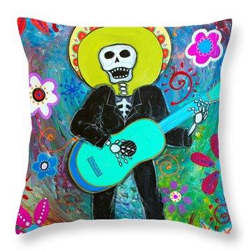 Throw Pillow featuring the painting Mi Carino by Pristine Cartera Turkus