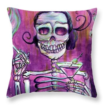 Mi Martini Throw Pillow by Heather Calderon