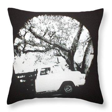 Throw Pillow featuring the mixed media Mi Troka by Erika Chamberlin