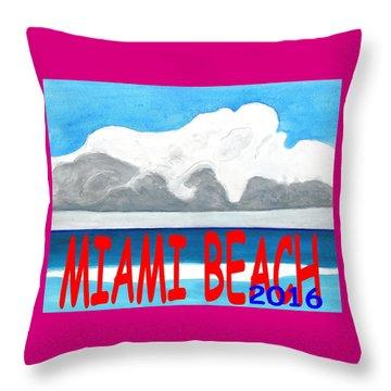 Miami Beach 2016 Throw Pillow by Dick Sauer