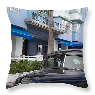 Throw Pillow featuring the photograph Miami Beach by Mary-Lee Sanders