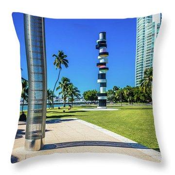 Miami Beach Series 4497 Throw Pillow
