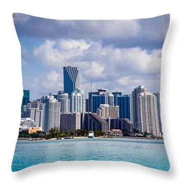 Miami Blues Throw Pillow