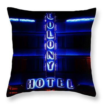 Miami Deco Throw Pillow by Benjamin Yeager