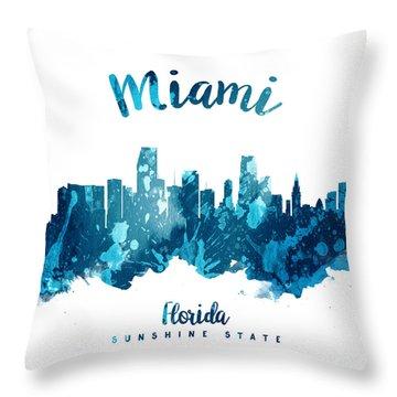 Miami Florida 27 Throw Pillow by Aged Pixel
