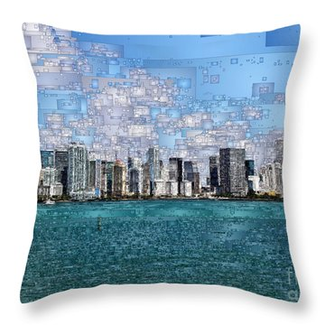 Miami, Florida Throw Pillow