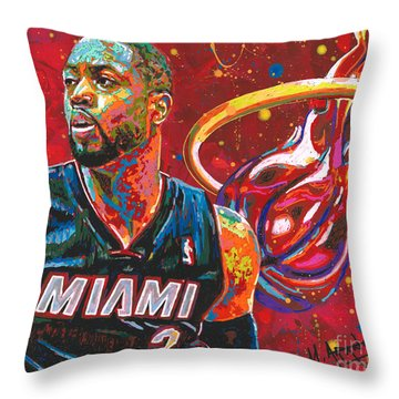 Miami Heat Legend Throw Pillow