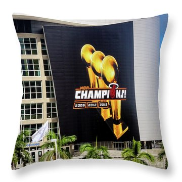 Miami Heat Nba Champions 2006-2012-20133 Throw Pillow