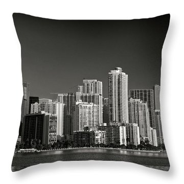 Miami Skyline 2744 Throw Pillow