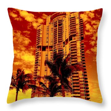 Miami South Pointe IIi Highrise Throw Pillow