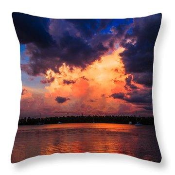 Miami Storm Throw Pillow by Jonathan Gewirtz