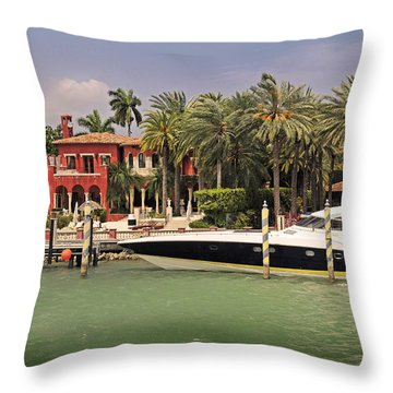 Miami Style Throw Pillow