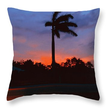 Miami Sunset Throw Pillow