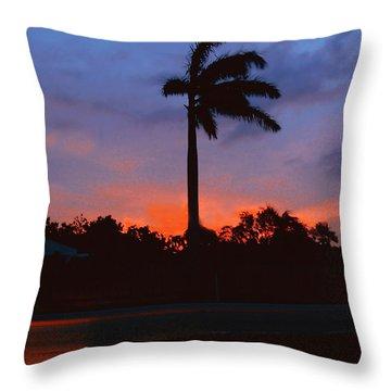Miami Sunset Throw Pillow