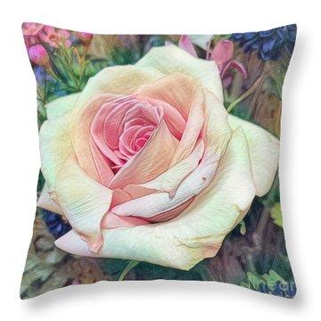 Mia's Rose Throw Pillow