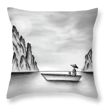 Micah Monk 01 - In The Moment Throw Pillow