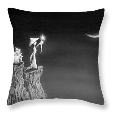 Micah Monk 11 - Light Up The Sky Throw Pillow
