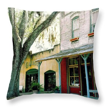 Micanopy Storefronts Throw Pillow